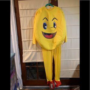 PAC man costume standard size Halloween yellow